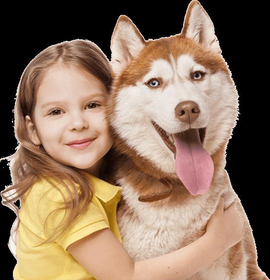 Dziewczynka z psemm